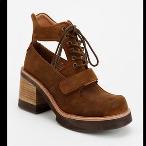 Jeffrey Campbell Exeter Distressed Cut Out Boots
